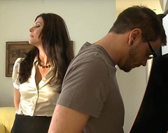 Stockinged mom India Summer acquires fucked and facialized