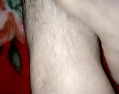 Indian feets hairy paws rubbing