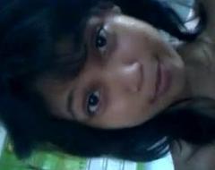 Aliya displays herself on webcam