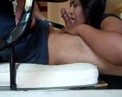 Indian secretary relaxing her boss