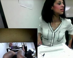 Angel'_s Real Office Defame (almost gets caught!)
