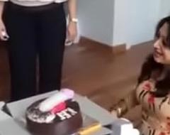 Indian women dirty Hawkshaw cake