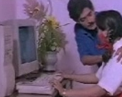 Indian Piece of baggage mallu with Computer Teacher south desi