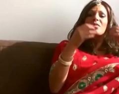 Hot bhabhi ki gand added to sombre unscrupulous pussy having it away hard