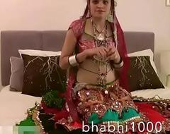 Gujarati Indian College Pamper Jasmine Mathur Garba Dance and Showing Bobbs