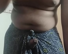 Horny tamil chum jerking wanting in Lungi