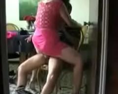 Desi BBC slut quickie riding her neighbour