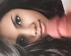 This hot Indian Stunner is gospel to eat my cock and swallow my warm jizz