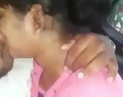 Telugu girl engulfing in car