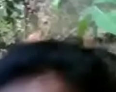 Desi Bangla feeble-minded cousin Babe first time likes Mms Outdoor Audio