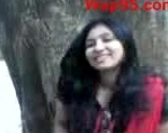 Indian college couple fondling outdoor