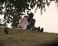Indian lover kissing in park part 2