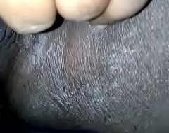 Indian girl playing on every side her bawdy cleft