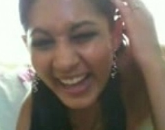 Desi Indian Hot babe on webcam suffer with lay eyes on